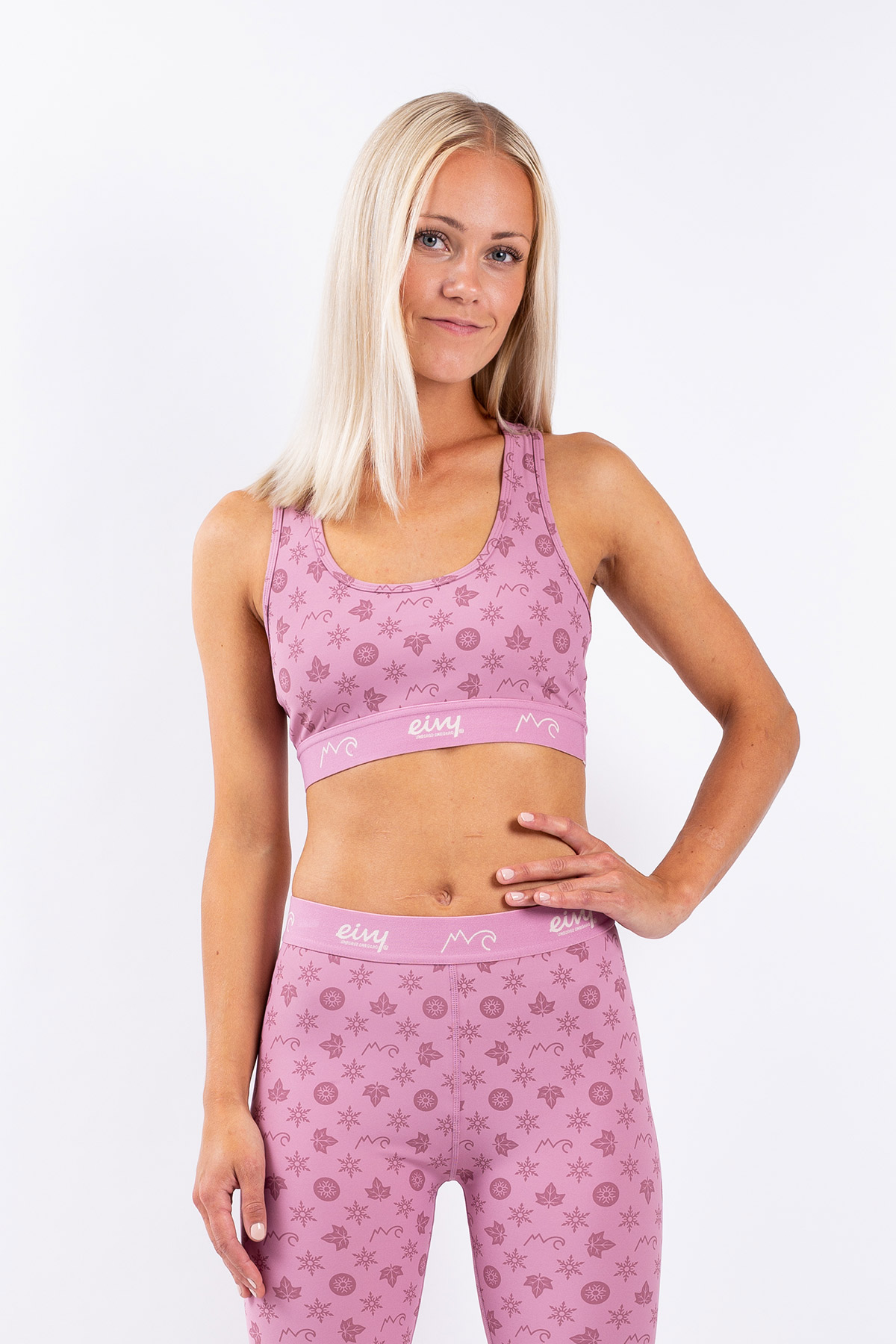 Sport BH | Shorty - Monogram Dusty Pink