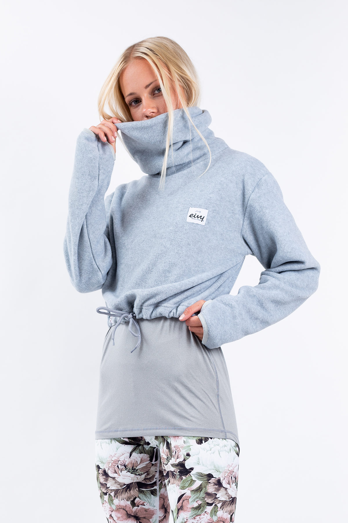 Fleece | Peg Cropped Fleece - Grey Melange