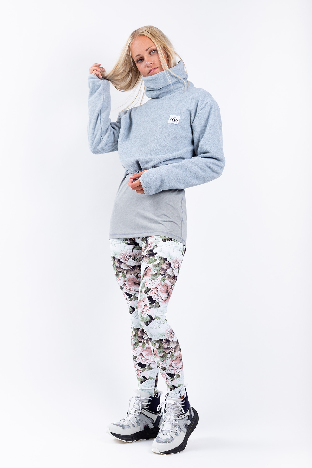 Fleece | Peg Cropped Fleece - Grey Melange | S