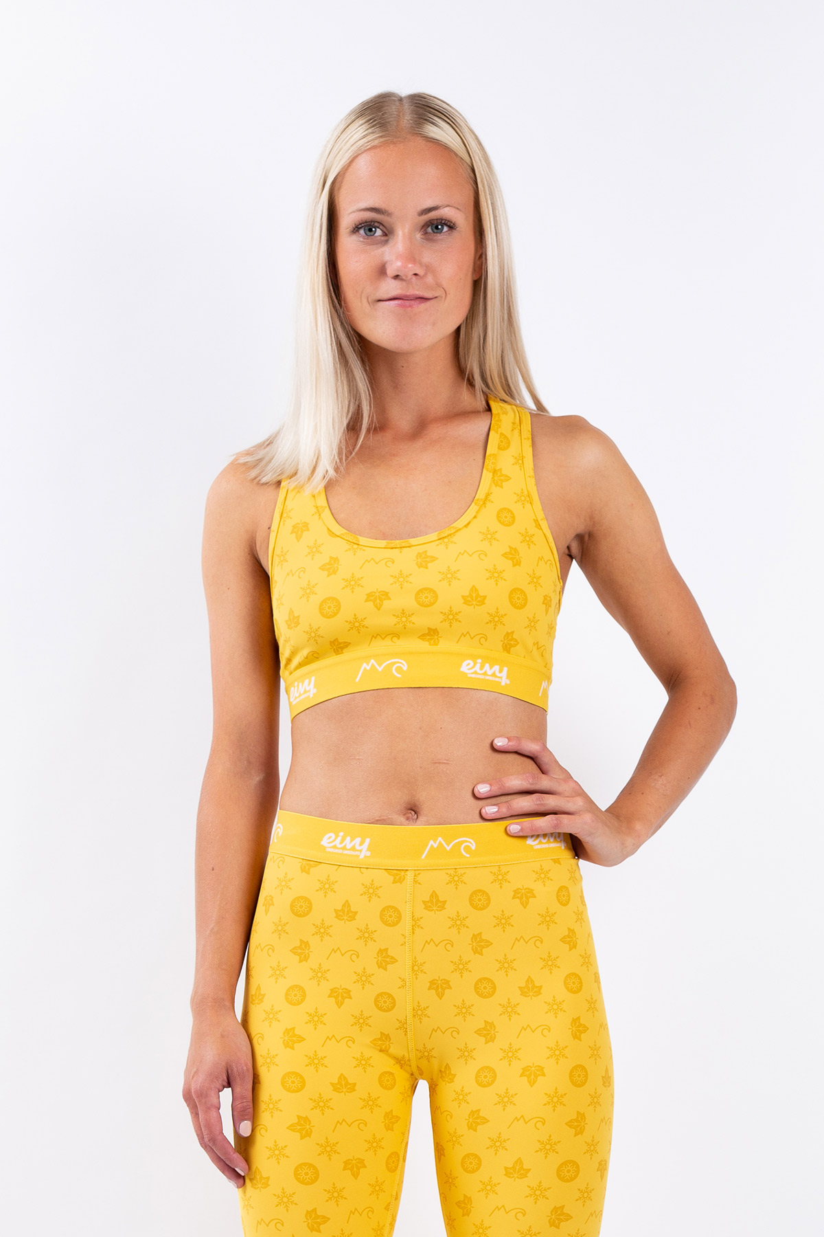 Sports Bra | Shorty - Monogram Mustard