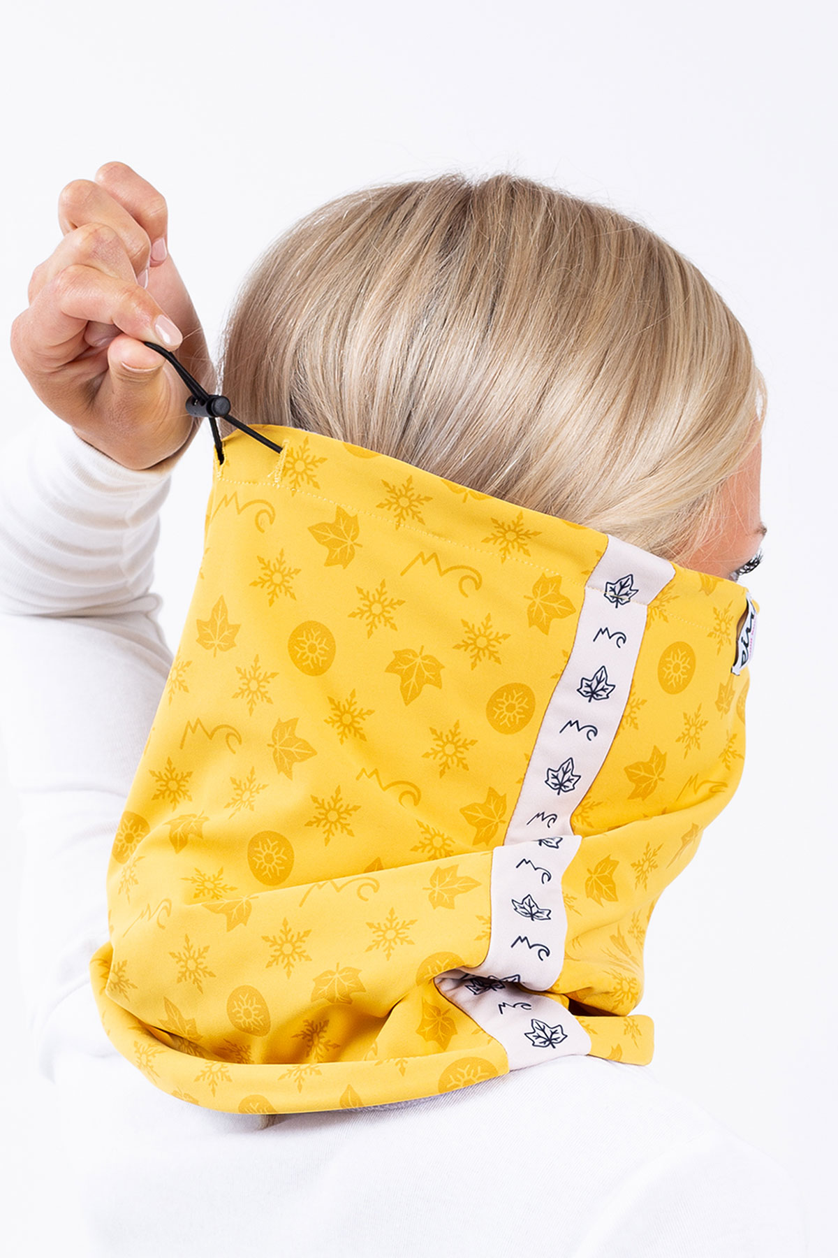 Neckwarmer | Colder Adjustable - Monogram Mustard