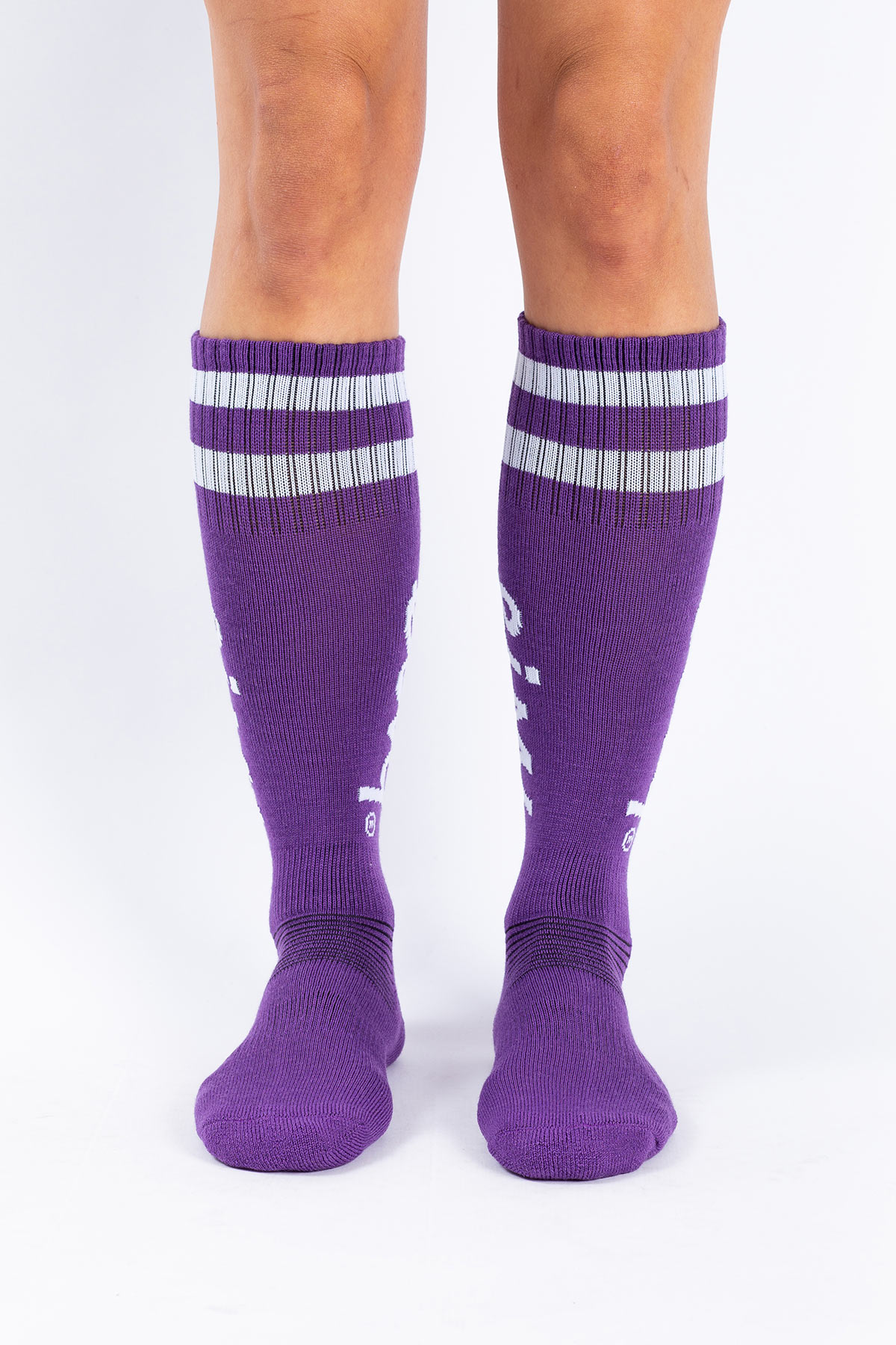 Strumpor | Cheerleader Wool - Grape | 36-38