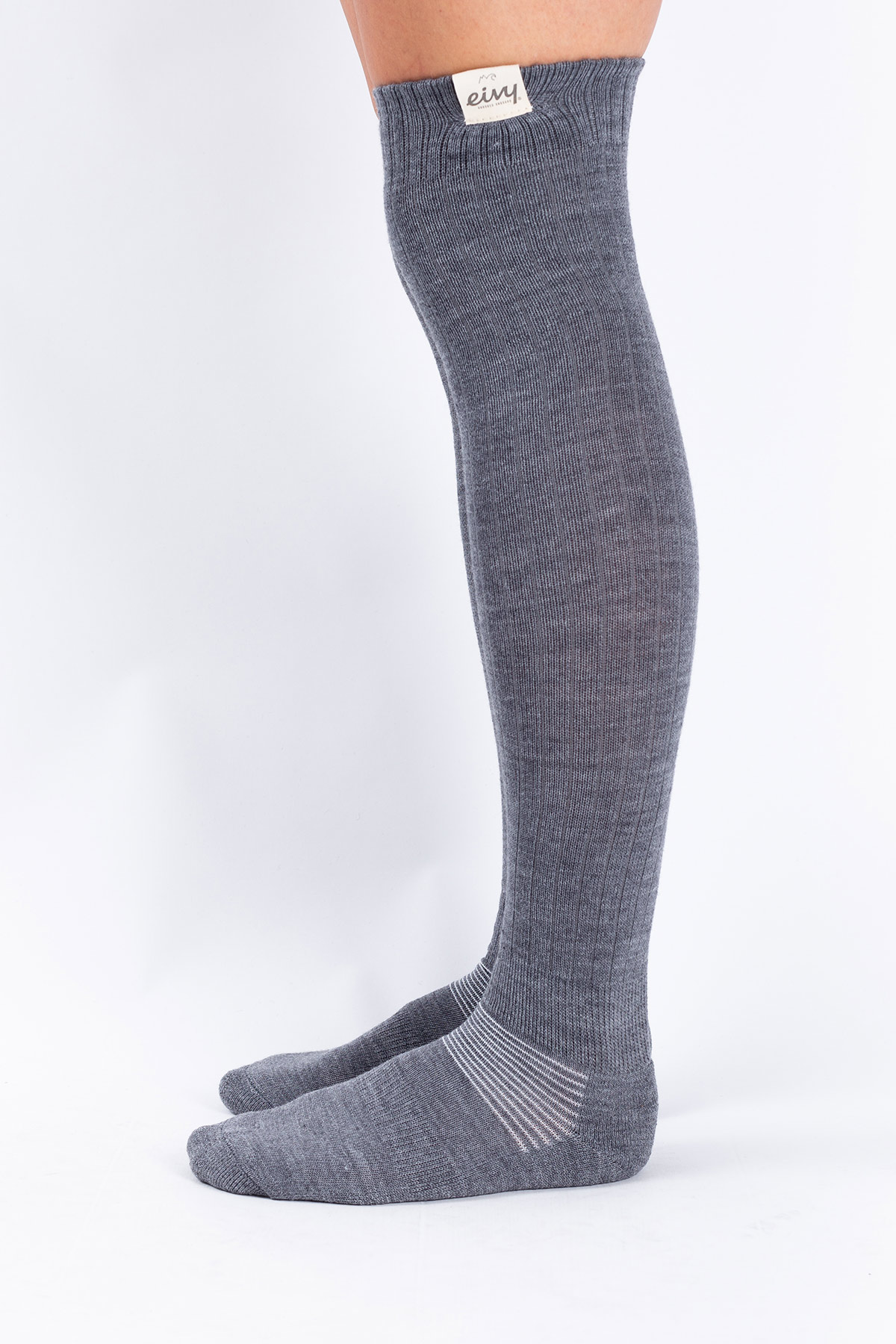 Socks | Rib High Wool - Grey Melange