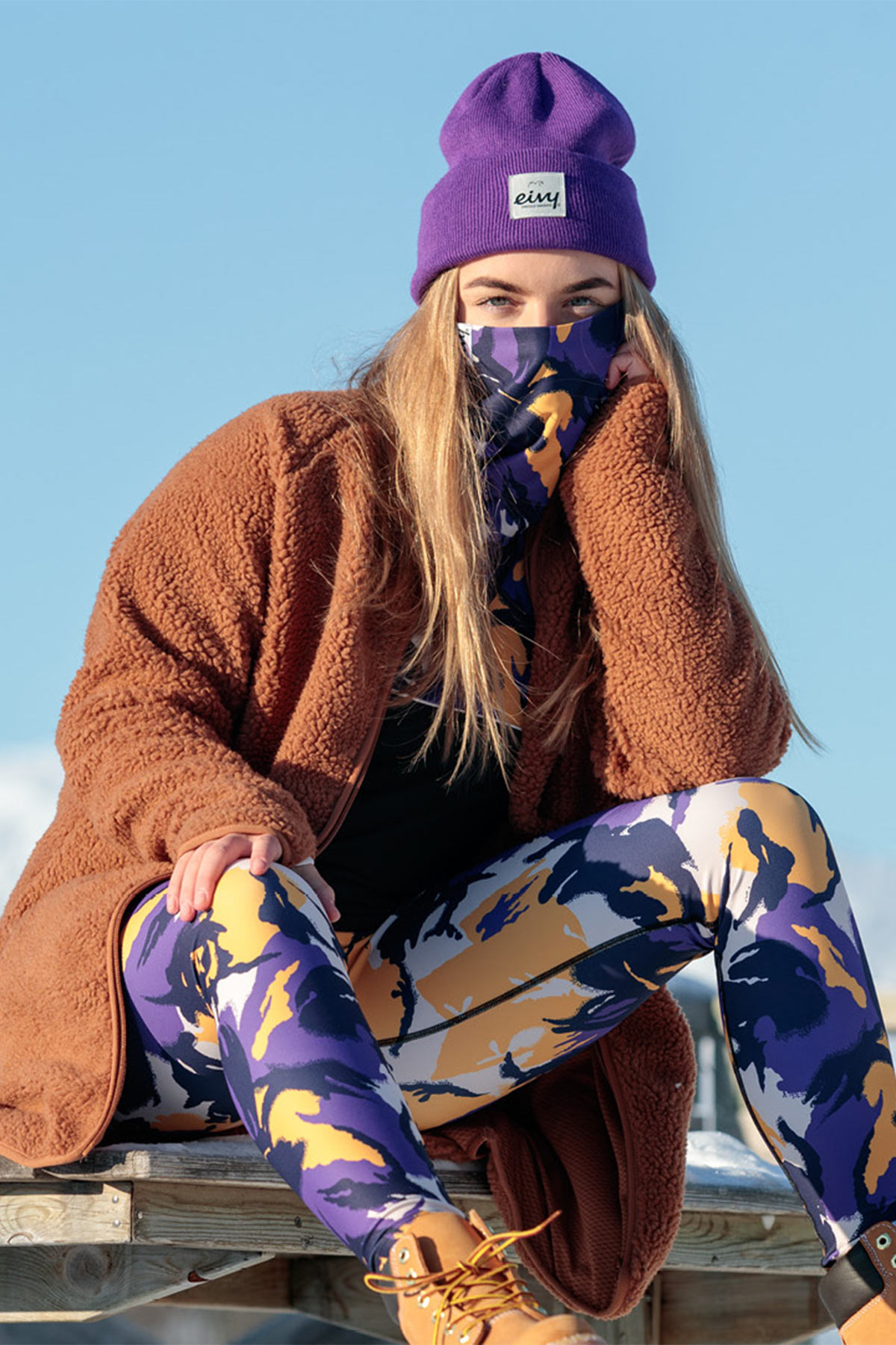 Underställ | Icecold Gaiter Top - Mountain Splash Purple