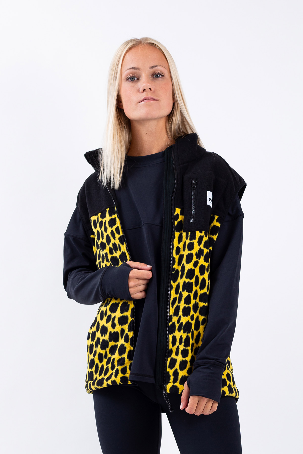 Fleece | Lumberjackie Fleece Vest - Punk Animal