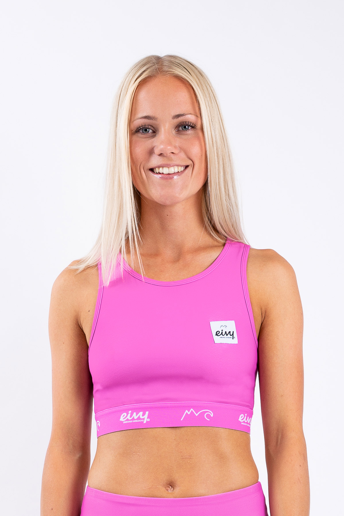 Sport BH | Cover Up Sports Bra - Super Pink